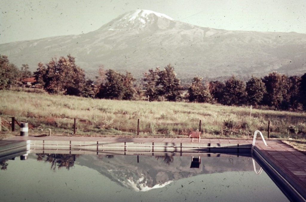 The YMCA swimming pool in Moshe, Tanzania after our climb of Mt. Kilamanjaro Africa's tallest mountain 19,341 feet.