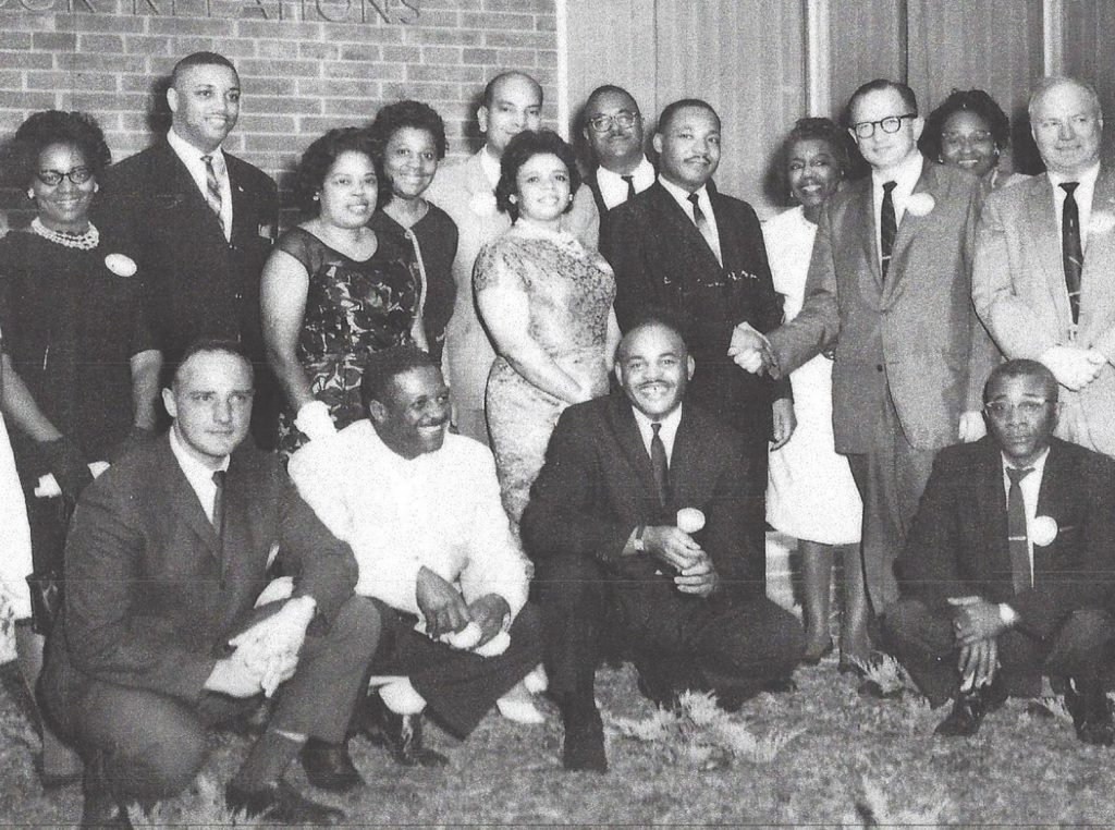 Sister, Rosie top left at AFL/CIO meeting with Martin Luther King in Jersey City, NJ