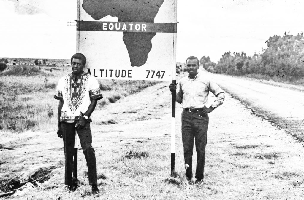 Yours truly, on the right and the  Equator Sign 53 years ago