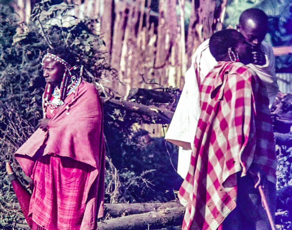 Kikuyu women and a man