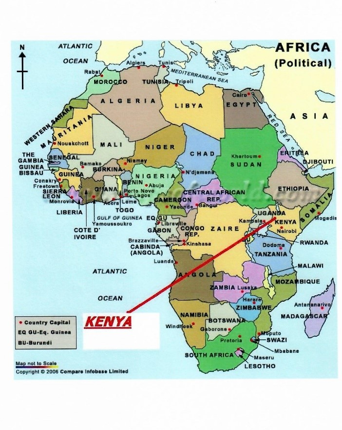 The Continent of Africa, specifically KENYA
